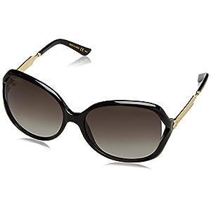 Gucci Women GG0076S 60 Black/Grey Sunglasses 60mm