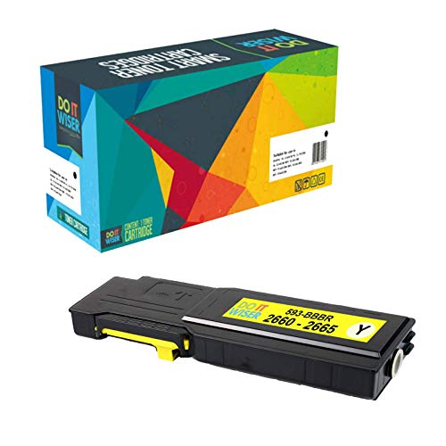 Do it Wiser Compatible Toner Cartridge Replacement for Dell C2660 C2660dn C2665dnf High Yield - (593-BBBR) Yellow