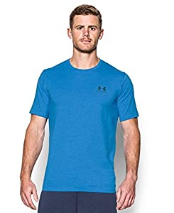 Under Armour Men's Charged Cotton Left Chest Lockup Tee, Brilliant Blue, Medium