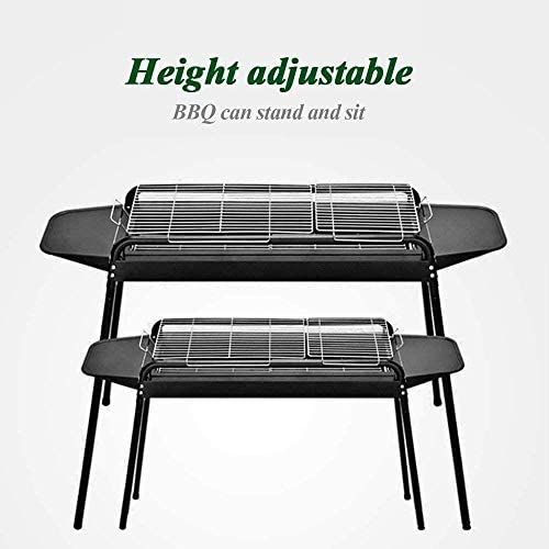 Barbecue HZY Grill Portable avec New Green au Charbon, Convient for Camping Cuisson 103 * 56 * 82cm