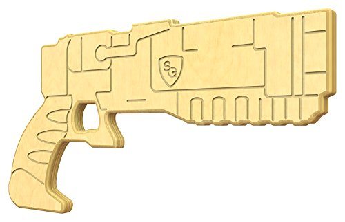 SturdiGuns Kids Apocalyptic Aid Wooden Toy Gun with, made in America, Extremely Durable (Best Laser Pistol Fallout 4)