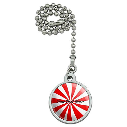 GRAPHICS & MORE Personalized Custom 1 Line Peppermint Swirl Ceiling Fan and Light Pull Chain