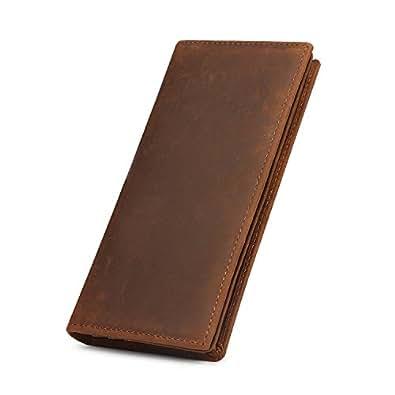 Amazon.com: Kattee cartera plegadiza clásica de cuero ...