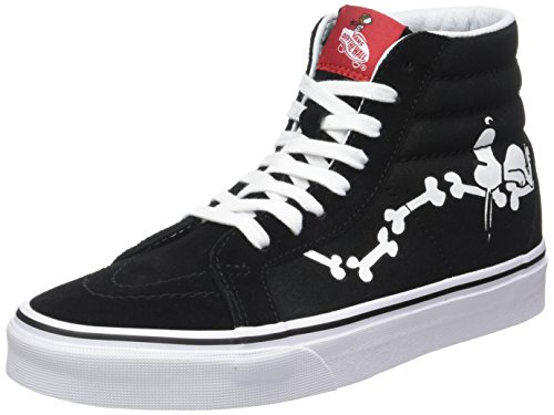 Black Mens Bone - Vans x Peanuts SK8-Hi Reissue Sneakers (Snoopy Bone/Black) Men's Snoopy Shoes
