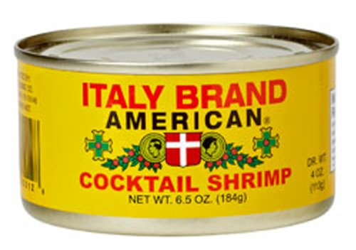 Italy Brand American Cocktail Shrimp, 6.5-Ounce Cans (Pack of ()