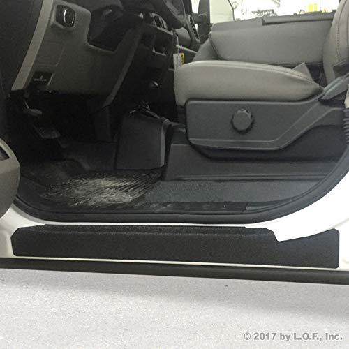 (Luyao Door Sill Step Threshold Shield Fits 2017-2018 Ford SuperDuty F250 F350 Crew Cab 4pc)