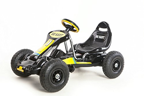 Ride On Pedal Car/Go-Kart/Racer &Pneumatic Tire Black (Toy Pedal Car Racer)