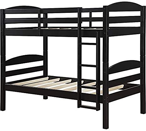 Amazon Com Mainstays Twin Over Twin Wood Bunk Bed Twin Black Furniture Decor