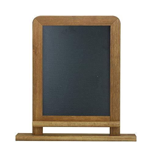 (Lockways Slate Chalkboard Black Board - Standing Chalk Board 14 x 10, Rustic Vintage Decor Wooden Frame Blackboard for Kitchen, Restaurant, Bar Countertop, Wedding, Party, Wall, Home)