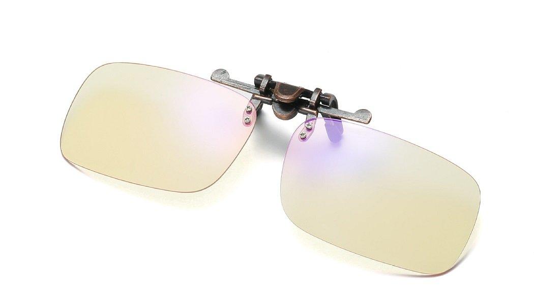 DAUCO Clip on lenti Occhiali per Bloccare la Luce Blu,Eliminano stanchezza e irritazione visiva proteggendo la salute degli occhi Accessori per ufficio e studenti//ANTI LUCE BLU 40/% e UV 100/%