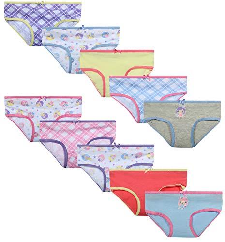 'Sweet Princess Toddler Girls' Bikini Underwear, 10-Pack, Sweet Princess, Size 4T' (Baby Panties Fancy)