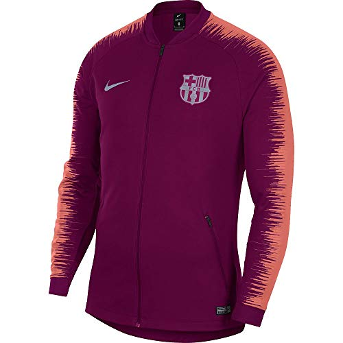 0a87145376c NIKE 2018-2019 Barcelona Anthem Jacket (Deep Maroon)