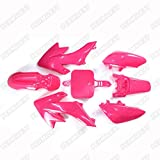 FidgetFidget Fairing Plastic Fender Kit SSR for Honda Piranha CRF50 XR50 50cc-160cc Dirt Pit Bike Pink