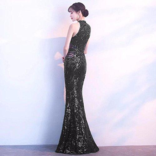 Annuale Night Sera Noble Presidente Vestito Una Club L'abito Appartarsi Pesce Sexy Elegante Coda Di Banchetto Black Da Wbxzal È qzO7Aw