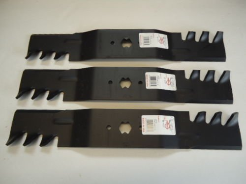 Set Of 3, Heavy Duty Mulching Blades Replace MTD, Cub Cadet 742-0677, 942-0677, 742-0677A, 942-0677A, 742-0677B, 942-0677B - Mtd 54 Inch Lawn Mower