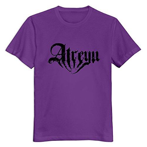 Crystal Mens Atreyu Organic Cotton Design T Shirt Purple Us Size S
