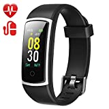 YAMAY Fitness Tracker with Blood Pressure Monitor Heart Rate Monitor,IP68 Waterproof Activity Tracker 14 Mode Smart Watch with Step Counter Sleep Tracker,Fitness Watch for Women Men Kids(2019 Version)