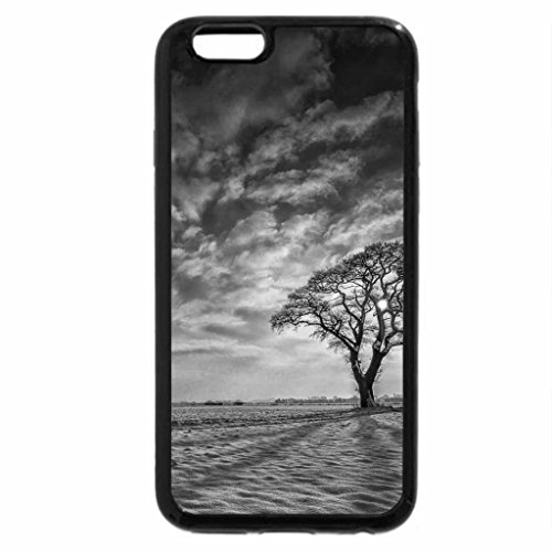 iPhone 6S Plus Case, iPhone 6 Plus Case (Black & White) - lovely shadows in a winter scene