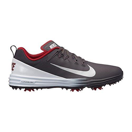 Nike Lunar Command 2 Mens Golf Shoes 849968 Sneakers Trainers (UK 10.5 US 11.5 EU 45.5, Thunder Grey Metallic Silver -