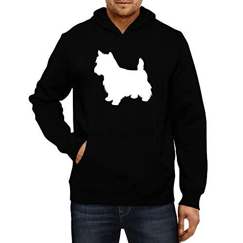 - Idakoos Norwich Terrier Silhouette Hoodie L Black