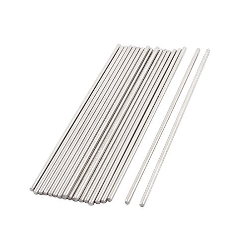 Amazon.com : 20pcs 100x2mm Redondo de Acero inoxidable Ejes ...