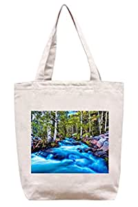 blue-rivers–algodón Canvas Tote Bag