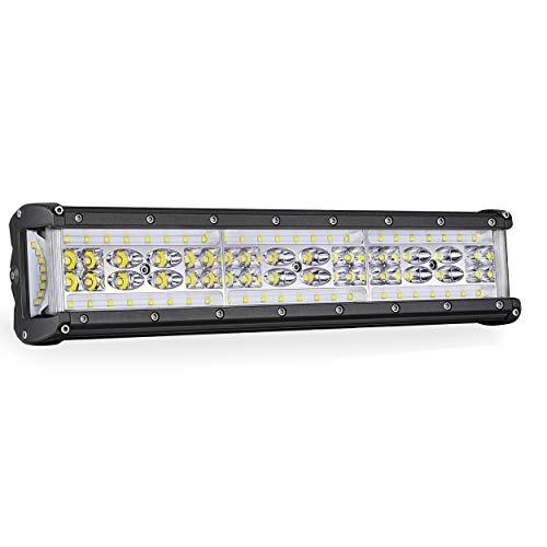 (LED Light Bar, SWATOW 4x4 14'' 248W Quad Row Side Shooter LED Work Light CREE Flood Spot Combo Off Road Light LED Driving Fog Light Truck Jeep ATV UTV Boat Lighting, 2 Yrs Warranty)