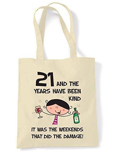 The Años Have Estado Kind Mujer 21 Regalo Cumpleaños Bolso ...