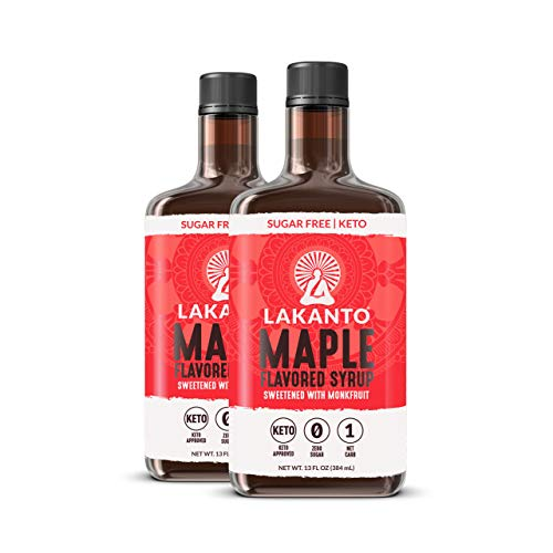 Lakanto Maple Flavored Sugar-Free Syrup, 1 Net Carb, Maple Syrup, 13 Fl. Oz (Pack of 2)