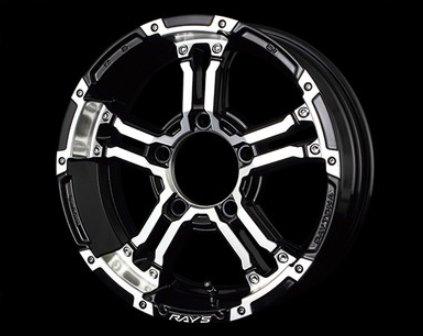 [ホイール1本(単品)] RAYS(レイズ) DAYTONA FDX-J 16インチ×5.5J PCD:139 穴数:5 インセット:20 (DW) ブラック/ダイヤモンドカット B079WKC8X9