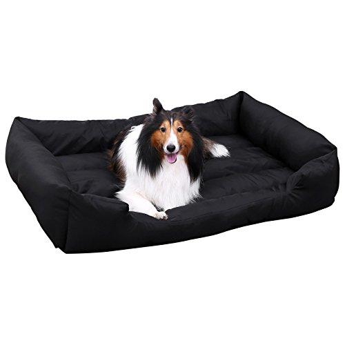 Songmics XXL Luxus Hundebett Hundekissen Oxford Gewebe mit unten einen Anti-Rutschboden - 120 x 85 x 30 cm PGW30H