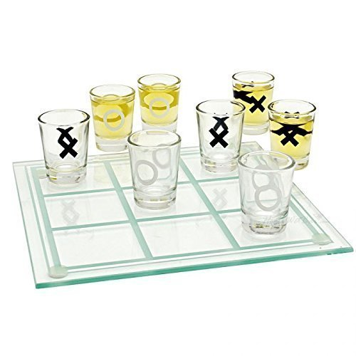 TIC-TAC-Toe Shot Glass Drinking Game Set ()