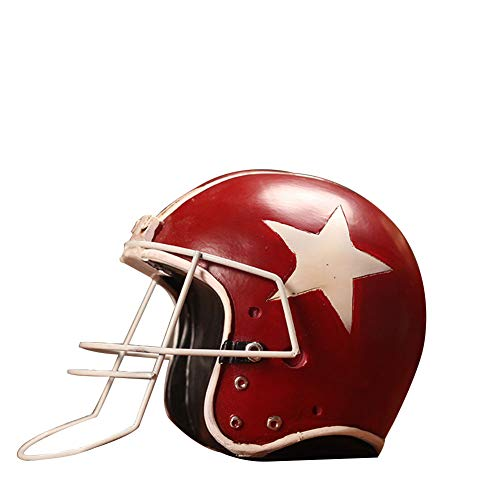 - MEMIND Retro American Olive Baseball Cap Creative Decoration Do The Old Prop Helmet Model Home Window Decoration,Red