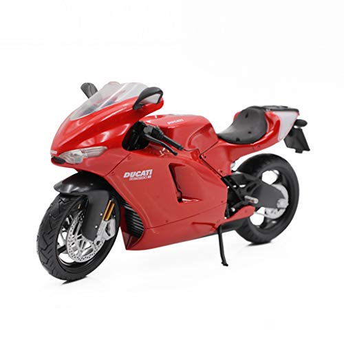 (Motorcycle Model 1:12 Ducati 2009 Desmosedici RR Alloy Motorcycle Model Decorations Toy Cars (Color : Red))