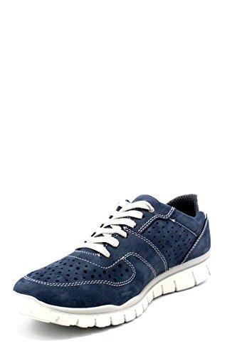 Blue Nuova UBN Collezione Uomo Blu In 1116400 11164AZZURRO CO 2018 Primavera IGI Tela e colore Camoscio Sneakers Estate qxCw7fOIT