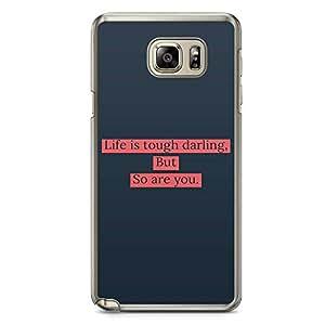 Samsung Note 5 Transparent Edge Phone Case Tough Phone Case Darling Phone Case Motivation Note 5 Cover with Transparent Frame