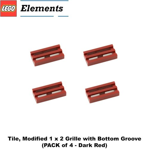 Lego Parts: Tile, Modified 1 x 2 Grille with Bottom Groove