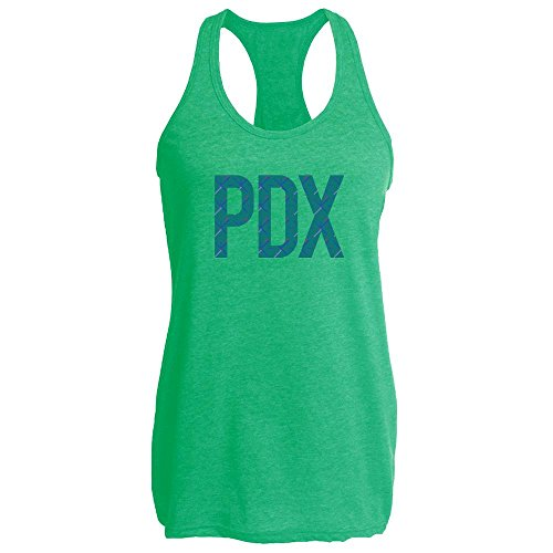 Pop Threads Portland PDX Airport Carpet Design Heather Kelly M Womens Tank Top ()