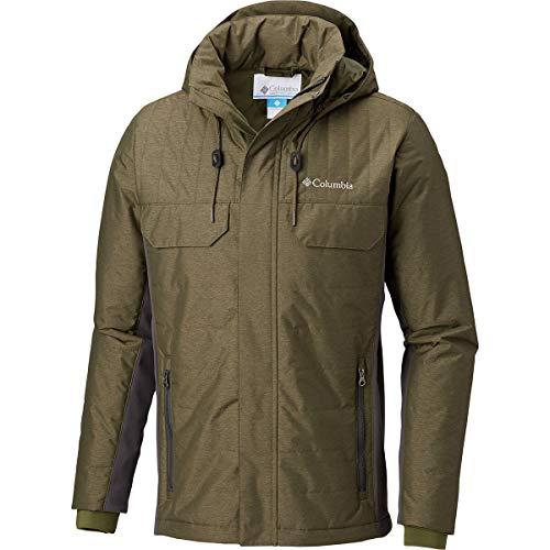 Columbia Men's Mount Tabor Hybrid Jacket, Peatmoss, Shark, XL