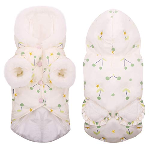 MIGOHI Dog Jacket Down Coat Puffy Hoodie Cloth Waterproof Lightweight Snowsuit for Small, XS, XXS Puppy and Cat Chihuahua Yorkie Maltese Pomeranian