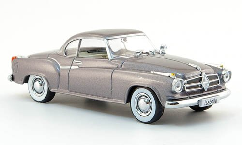 Modellauto Auto-Klassiker 1:43 met.-grau Borgward Isabella Coupe 1957 Fertigmodell