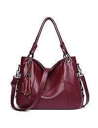 Bolsos de piel para mujer, bolso bandolera, bolso de mano con asa superior