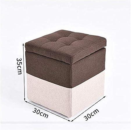 Silla Nuevo hogar otomana de Almacenamiento de heces Puf Caja Cubo con el Amortiguador de la Tapa de Almacenamiento extraíble: Amazon.es: Hogar