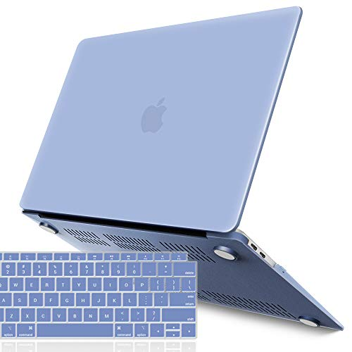 - iBenzer MacBook Air 13 Inch Case 2018 Release New Version A1932, Soft Touch Hard Case Shell Cover for Apple MacBook Air 13 Retina with Touch ID with Keyboard Cover, Serenity Blue, MMA-T13SRL+1