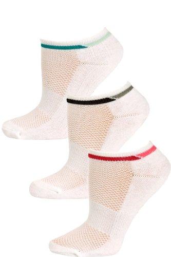 avia-womens-white-multi-low-cut-sport-socks-3-pairs-size-9-11