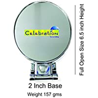 Homesoul celebrationgift Chrome finish 3X Magnification Double Sided Vanity Glass Mirror (6-inch)