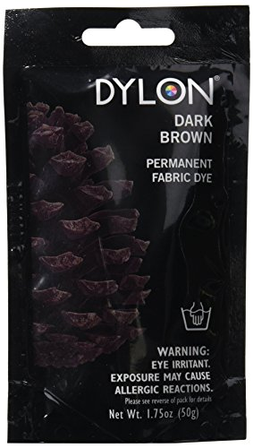 Dylon Permanent Fabric Dye 1.75oz, Dark Brown