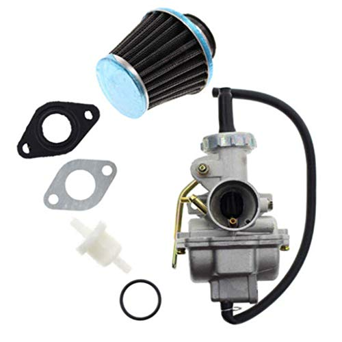 AutumnFall Durability PZ20 Carburetor for Kazuma Baja 50cc 70cc 90cc 110cc 125cc with Air Fuel Filter (A)