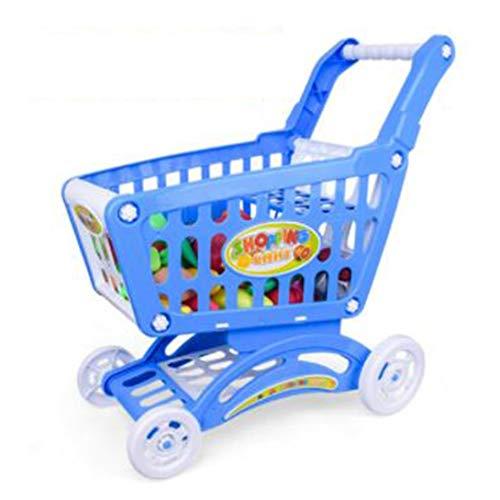 おもちゃのおもちゃのショッピングカート - 食料雑貨のカート付きのスーパーマーケットの試合おもちゃと食べ物の食べ物