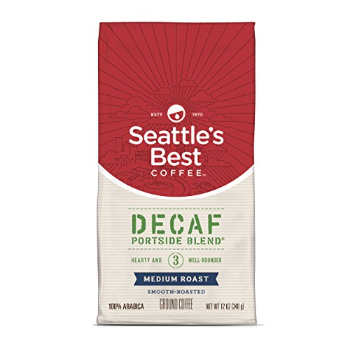 Seattle's Best Coffee Decaf Portside Blend (Previously Signature Blend No. 3) Medium Roast Ground Coffee, 12 Ounce (Pack of 1)